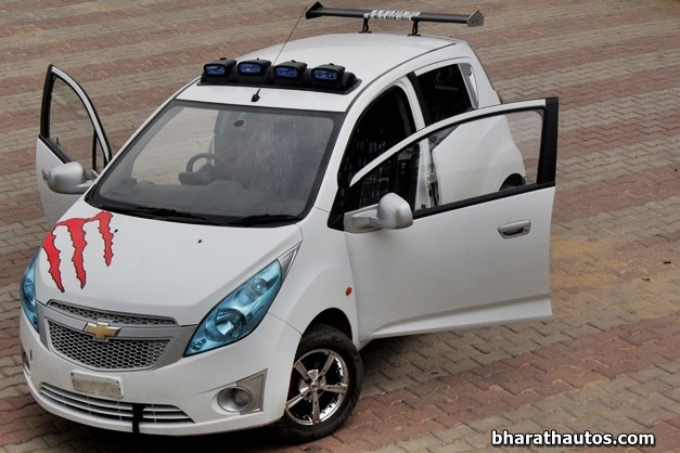 Rahul Modifies His Chevrolet Beat Calls It The Exquisite Beat