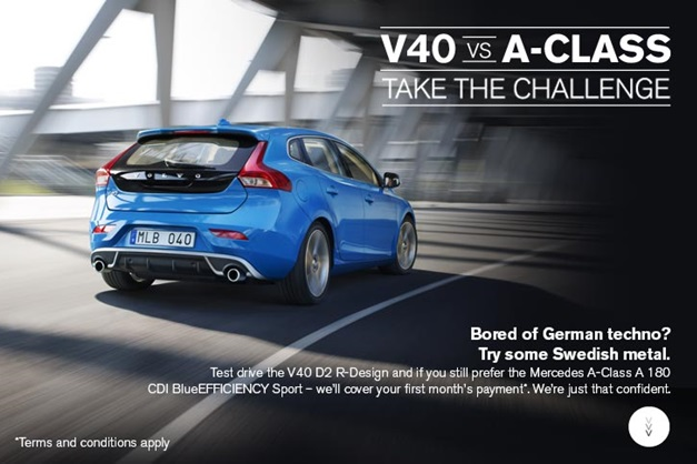 Volvo challenges Mercedes, says V40 is better than the A-Class