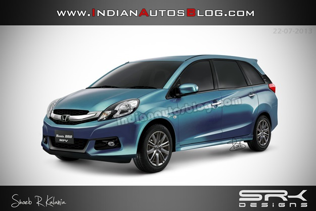 Honda Brio-based MPV (Rendered picture)