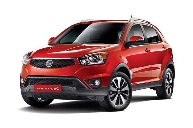 Ssangyong-Korando-C-facelift-front-three-quarter