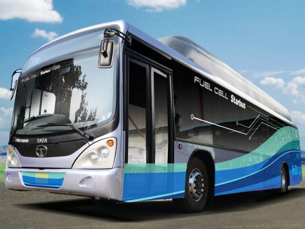 India's first Hydrogen Fuel Cell Bus developed by Tata Motors and ISRO