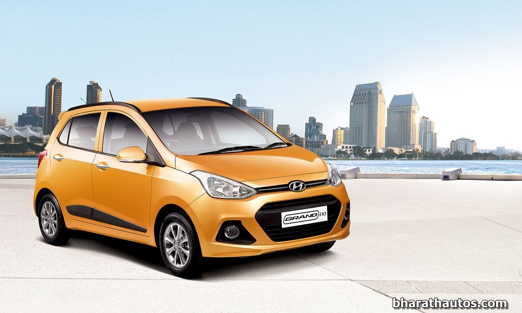 new hyundai grand i10 launched in india at rs lakh. Black Bedroom Furniture Sets. Home Design Ideas