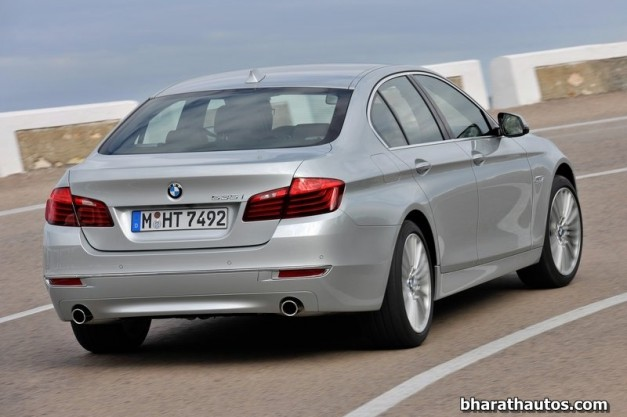 2014-BMW-5_Series-Facelift-India-Rear-View