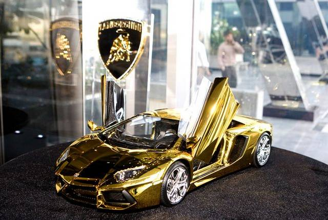 46 Crore Rupees Gold Lamborghini Aventador Awaits New Buyer In Uae