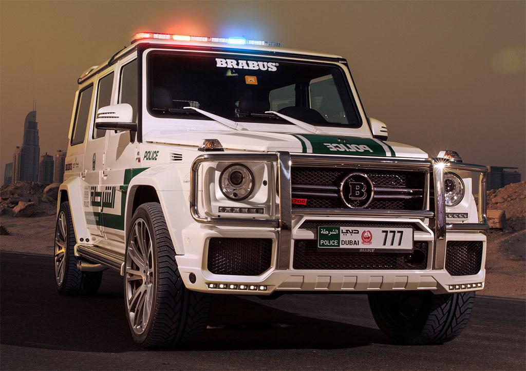 Dubai Police Adds A Brabus Tuned 700 Hp Mercedes G63 Amg