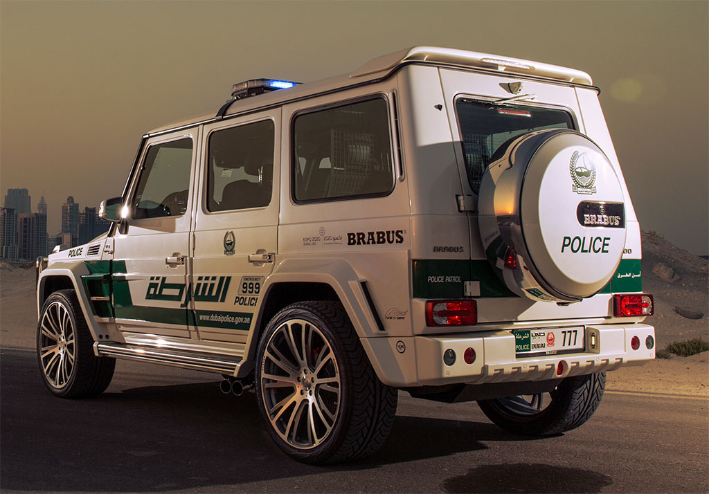 Jeep Mercedes Brabus >> Dubai Police adds a Brabus tuned 700 HP Mercedes G63 AMG to its fleet