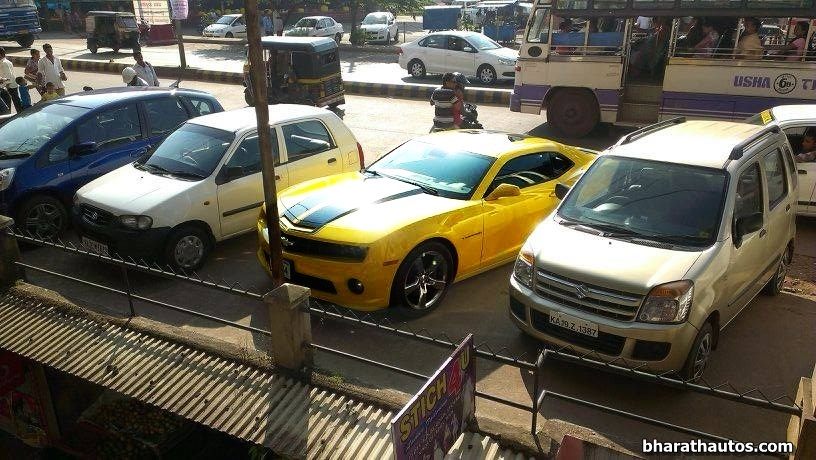 Chevrolet Camaro Bumblebee Arrives In Mangalore With Carnet Entry
