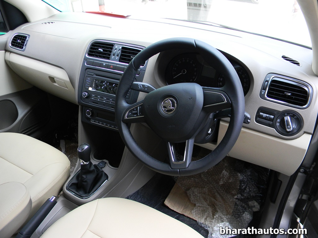 New 2014 Skoda Rapid Interior View India Bharathautos Automobile