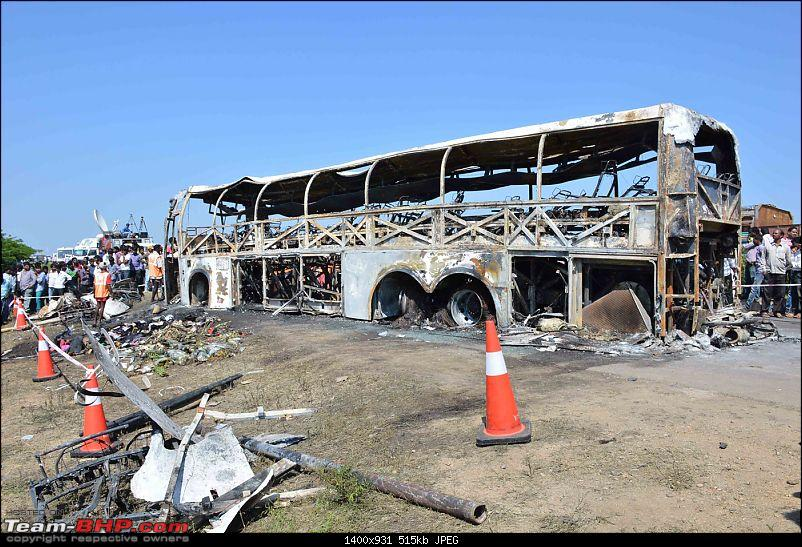 Diesel leak led to Volvo bus fire, killing 45 passengers on-board (Video)
