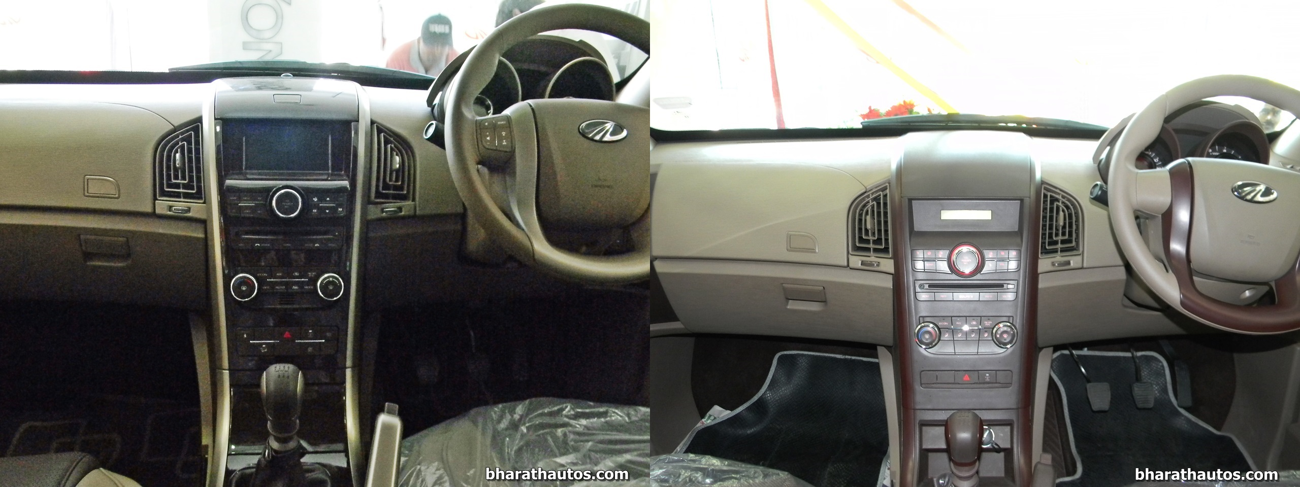 mahindra xuv500 w8 and w4 side by side visual comparison. Black Bedroom Furniture Sets. Home Design Ideas