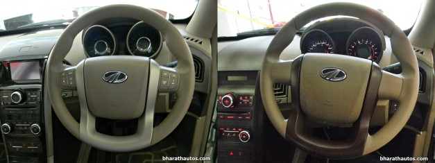 mahindra-xuv500-w8-and-w4-side-by-side-visual-comparison-steering-wheel