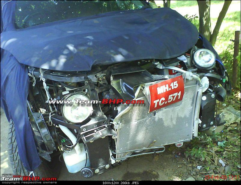 Mahindra Xuv500 W201 World Suv Crash Accident Front View