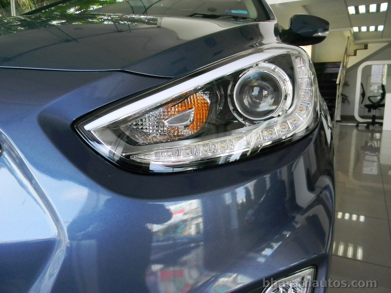 fluidic hyundai verna seen with projector headlamps and. Black Bedroom Furniture Sets. Home Design Ideas