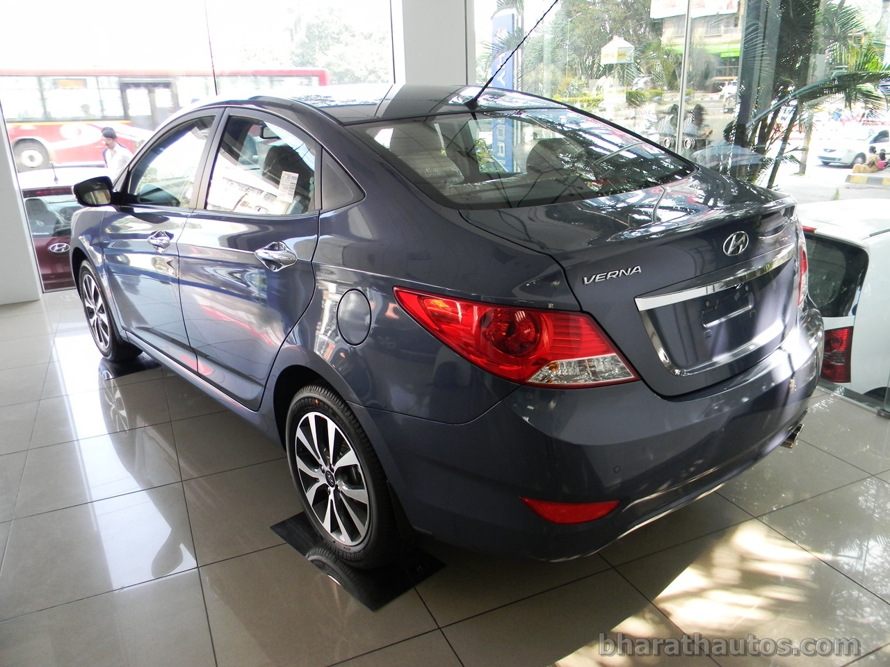 Fluidic Hyundai Verna Seen With Projector Headlamps And