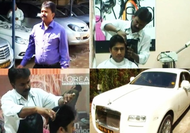 bangalore-barber-ramesh-babu-mercedes-car