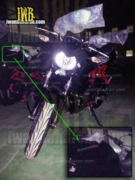 new-kawasaki-single-cylinder-150cc-motorcycle-india-front
