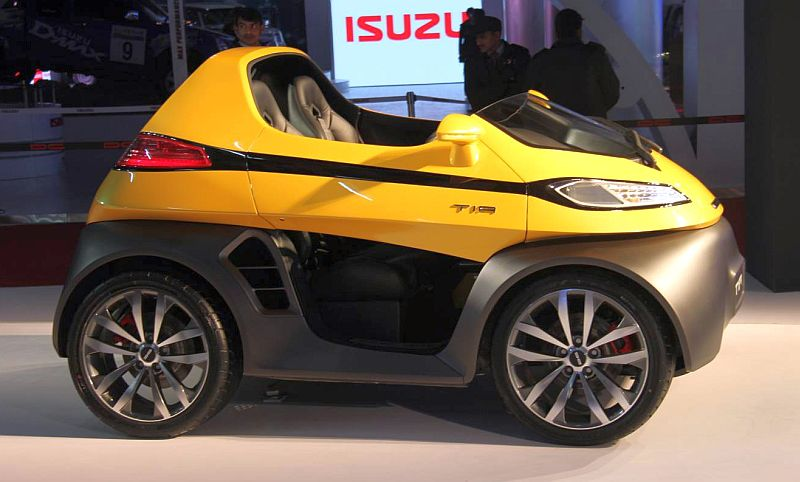 2014 Auto Expo Dc Design Unveils Eleron Suv Tia 2 Seater City Car