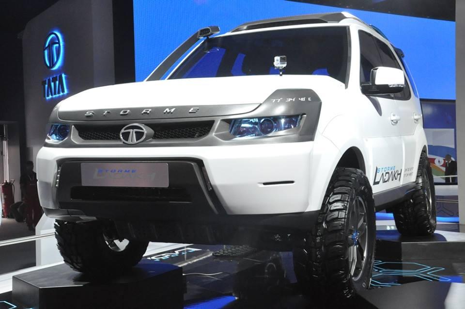 Tata Safari 2018 Pics >> 2014 Auto Expo - Safari Storme Ladakh & Sumo Grande Extreme shows the future of Tata