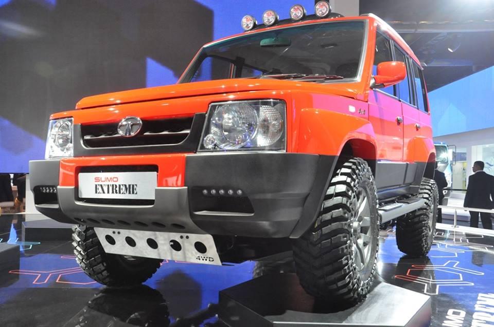 2014 auto expo safari storme ladakh sumo grande for Tata motors future cars