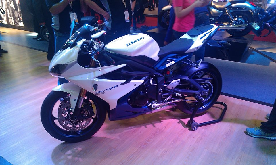 2014 Auto Expo Triumph Daytona 675 India Bharathautos Automobile