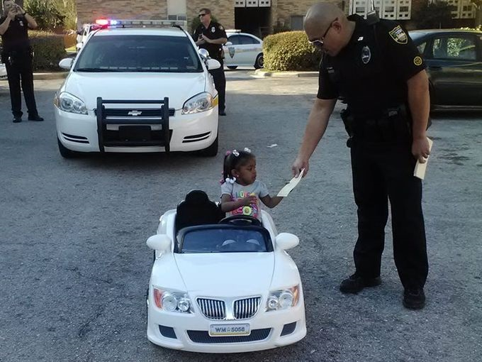 Cats Driving Cars And Getting Pulled Over : Police pull over a year old girl for reckless driving on