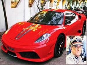 Elegant 25 Year Old John Pascal Ferrari F430 Scuderia Fined Mumbai Police
