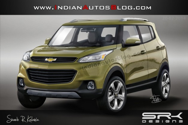Chevrolet To Launch The Adra Compact Suv By 2017 Production Version Rendered