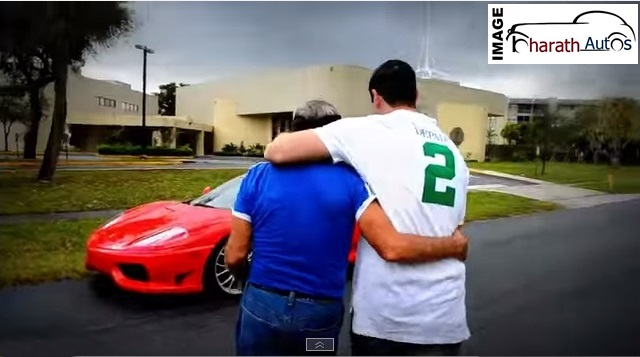 Guy Surprises Dad With Birthday Gift Ferrari 360 Video