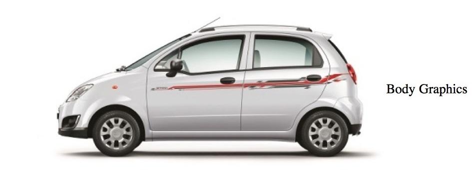 Chevrolet Spark Special Edition White Body Graphics Bharathautos