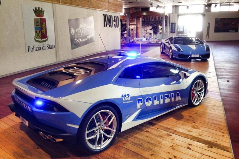 Lamborghini Huracan Sports Car Italy State Police Bharathautos