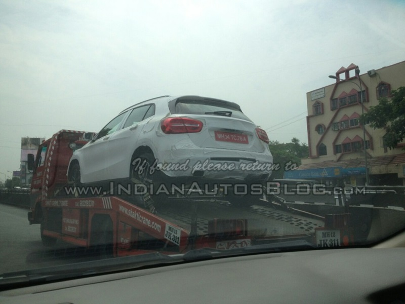 Mercedes benz gla crossover spotted in india bookings open for Mercedes benz gla india