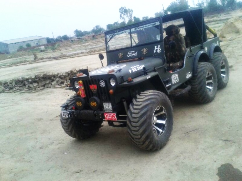 Police Car For Sale >> A modified version of Willys Jeep now converted into a 6x6 in India