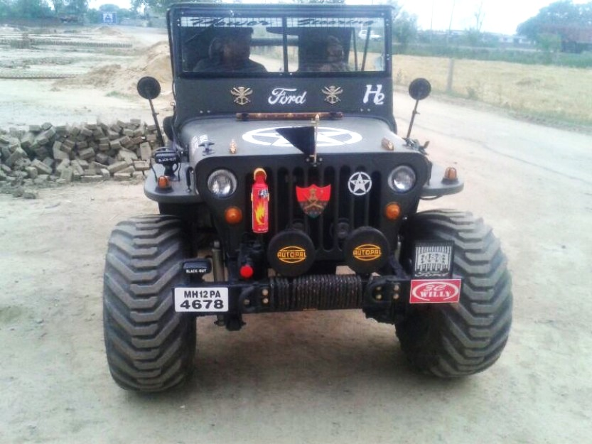 A Modified Version Of Willys Jeep Now Converted Into A 6x6