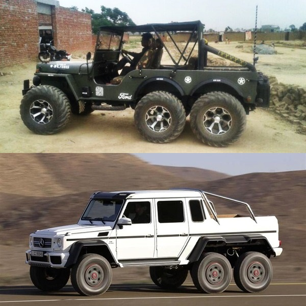 A Modified Version Of Willys Jeep Now Converted Into A 6x6 In India
