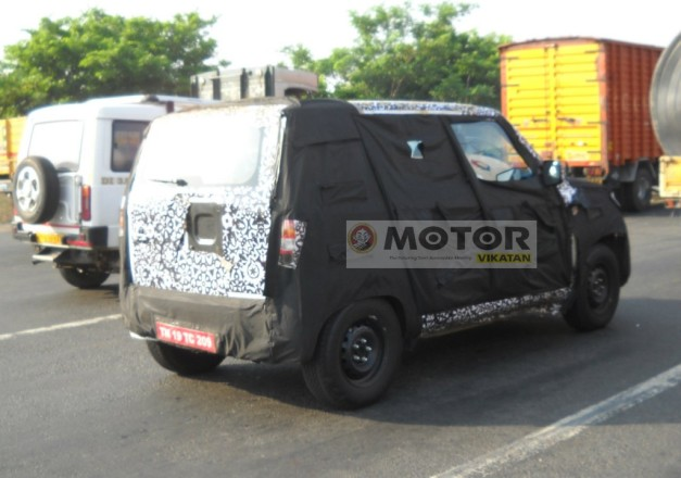 next-gen-mahindra-quanto-spied-without-spare-wheel