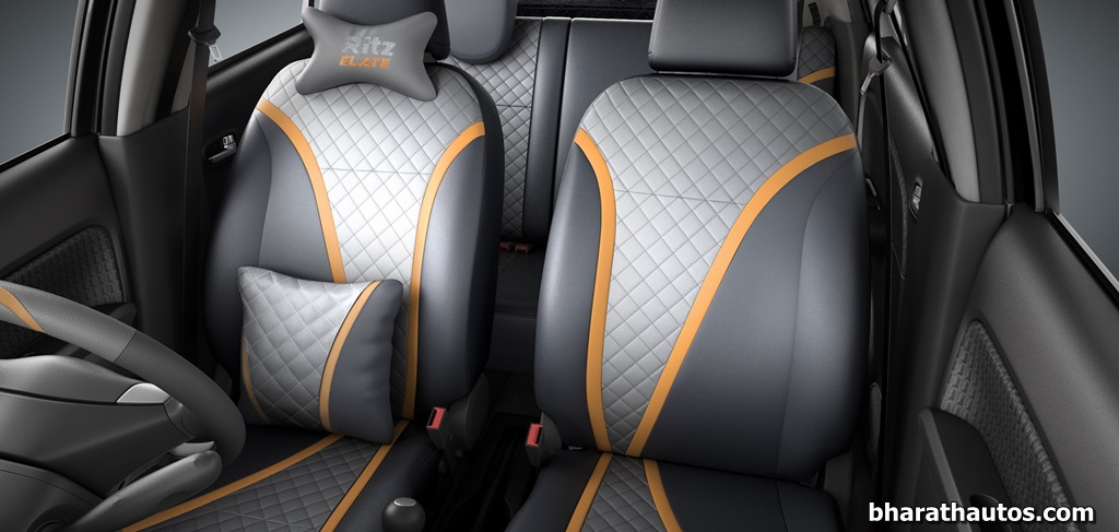 maruti ritz elate limited edition seat cover bharathautos automobile news updates. Black Bedroom Furniture Sets. Home Design Ideas