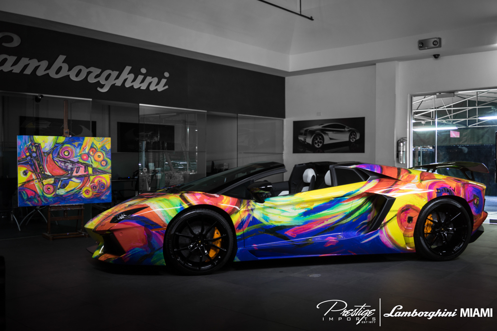 Duaiv Creates 2014 Lamborghini Aventador Roadster Art Car