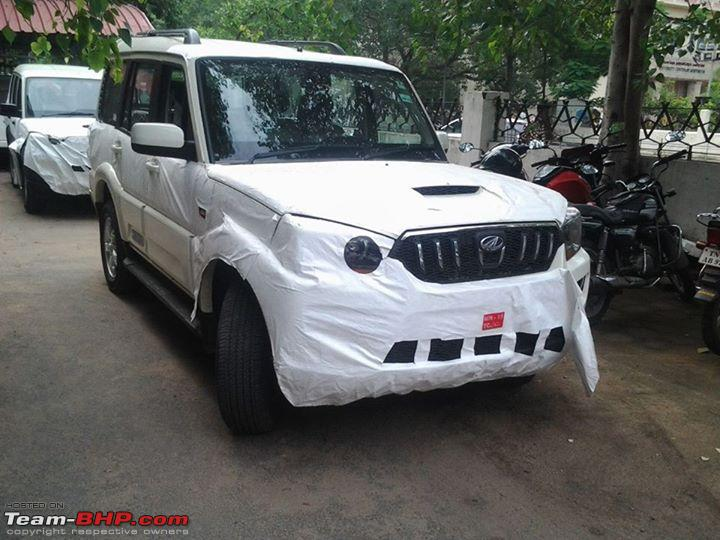 first look at the new mahindra scorpio facelift it s coming on september 25. Black Bedroom Furniture Sets. Home Design Ideas