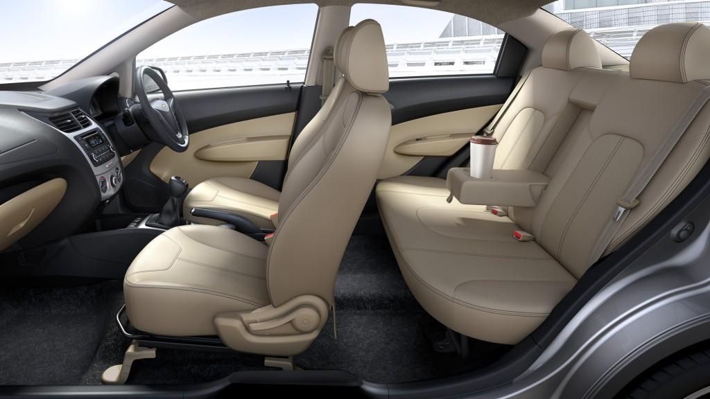 New Chevrolet Sail Twins Get Dual Tone Interior Chrome Highlights