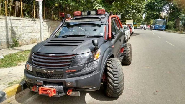 modified-mahindra-xuv500-bangalore-front-fascia