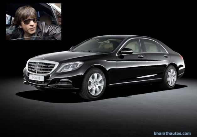 shahrukh-khans-10-crore-mercedes-s600-guard-bomb-proof-car-front