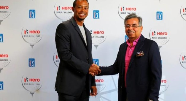 hero motocorp join hands with tiger woods as its first