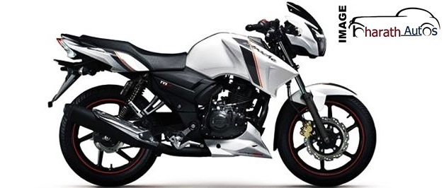 2014-TVS-Apache-RTR-160-White-Paint-Job