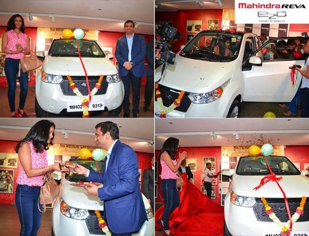 gul-panag-receives-mahindra-reva-e2o-birthday-gift