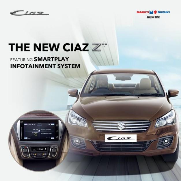 maruti-ciaz-z-plus-petrol-variant-smartplay-infotainment-system