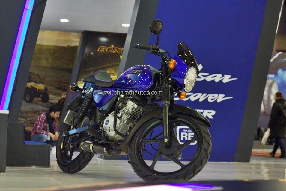 Bajaj Cafe Racer Boxer 150 unveiled at the 2015 Eurasia Moto Bike Expo in Istanbul.