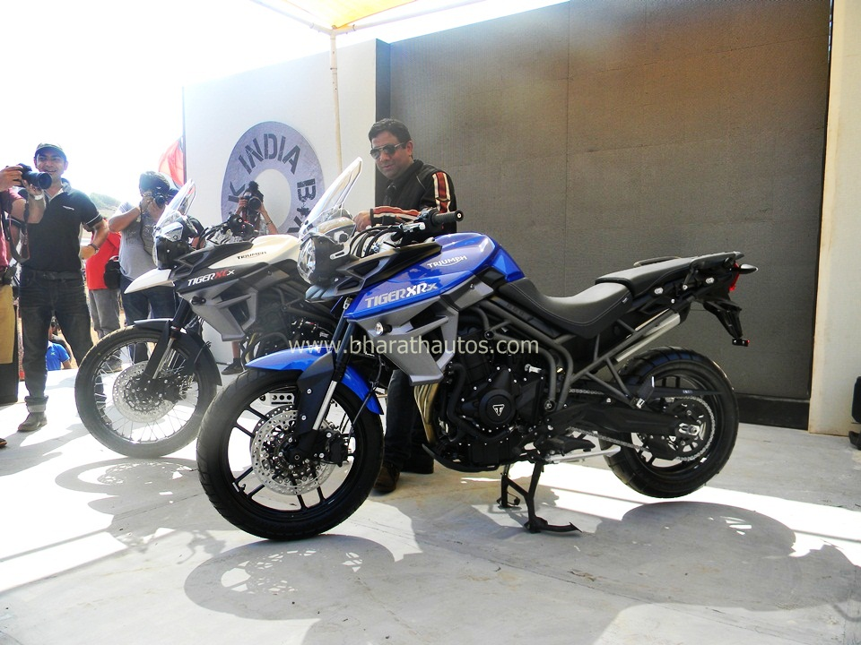 Triumph Tiger Xcx And Xrx Unveiled At 2015 India Bike Week Ibw