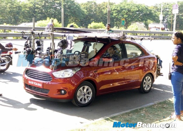 ford-figo-aspire-compact-sedan-spied-tvc-ad-shoot-with-farhan-akhtar-front