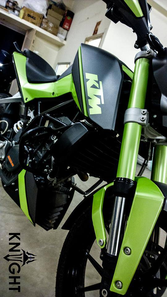 Modified Duke 200 In Green Shade By Knight Auto Customizers