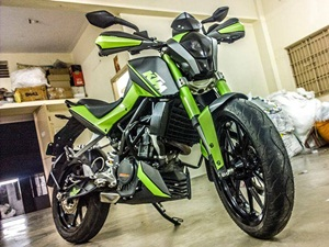 modified-ktm-duke-200-green-shade-knight-auto-customizer